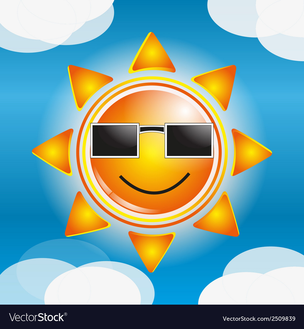 Cartoon sun vector | Price: 1 Credit (USD $1)