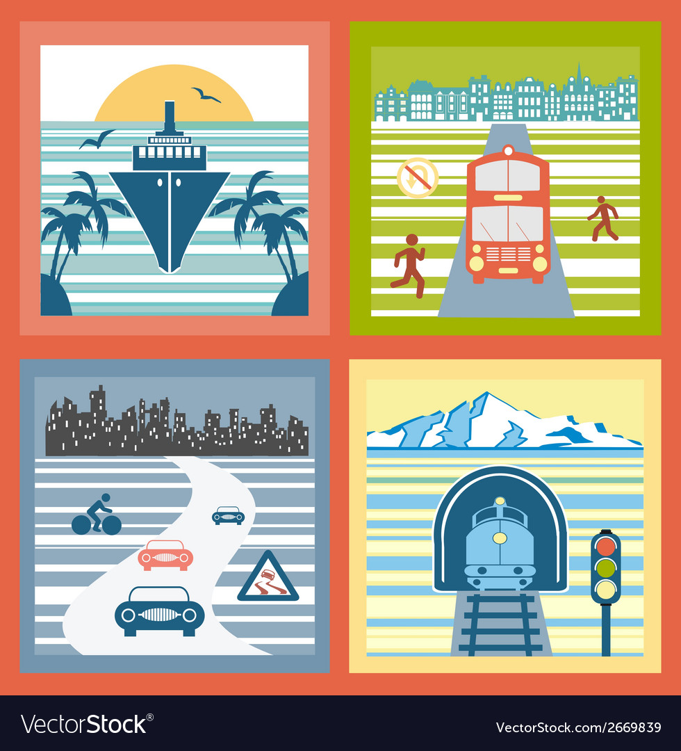 Colorful landscapes vector | Price: 1 Credit (USD $1)
