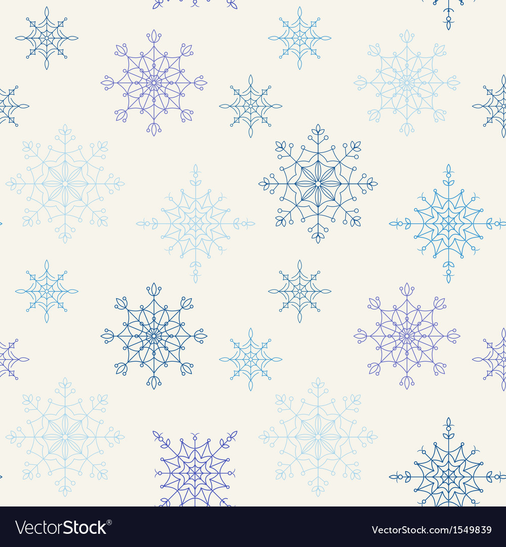 Decoration snowflakes seamless background vector | Price: 1 Credit (USD $1)