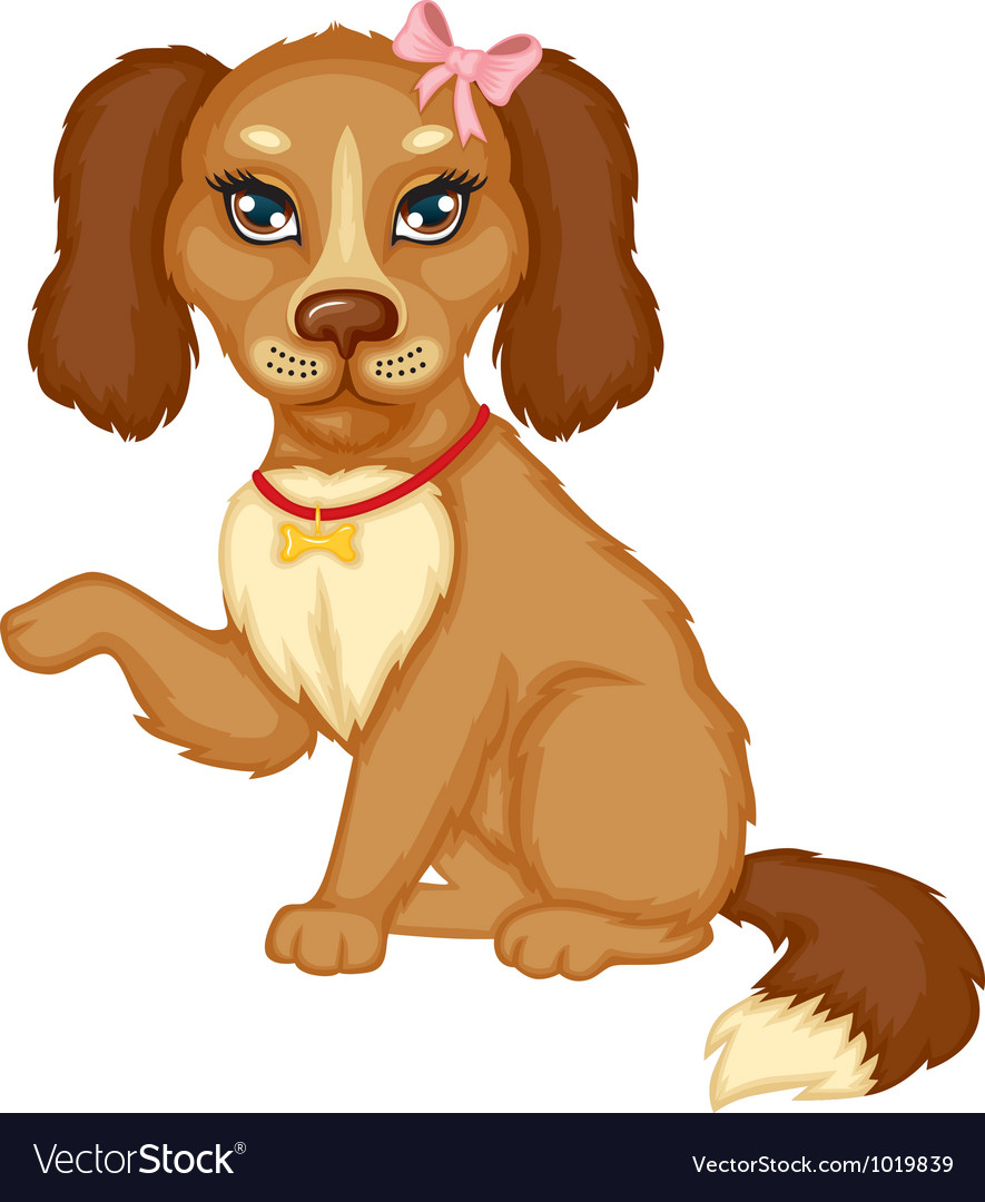 Dog sits vector | Price: 3 Credit (USD $3)