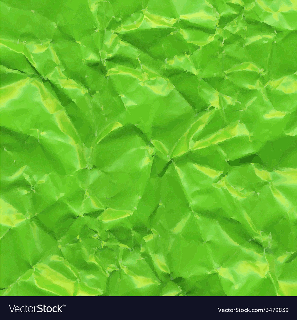Green crushed paper vector | Price: 1 Credit (USD $1)