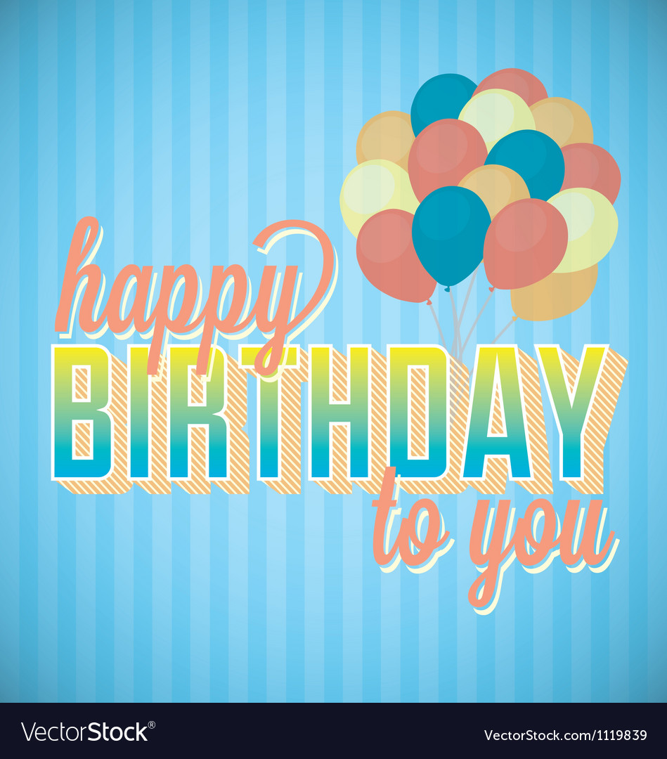 Happy birthday to you card and wallpaper vector | Price: 1 Credit (USD $1)