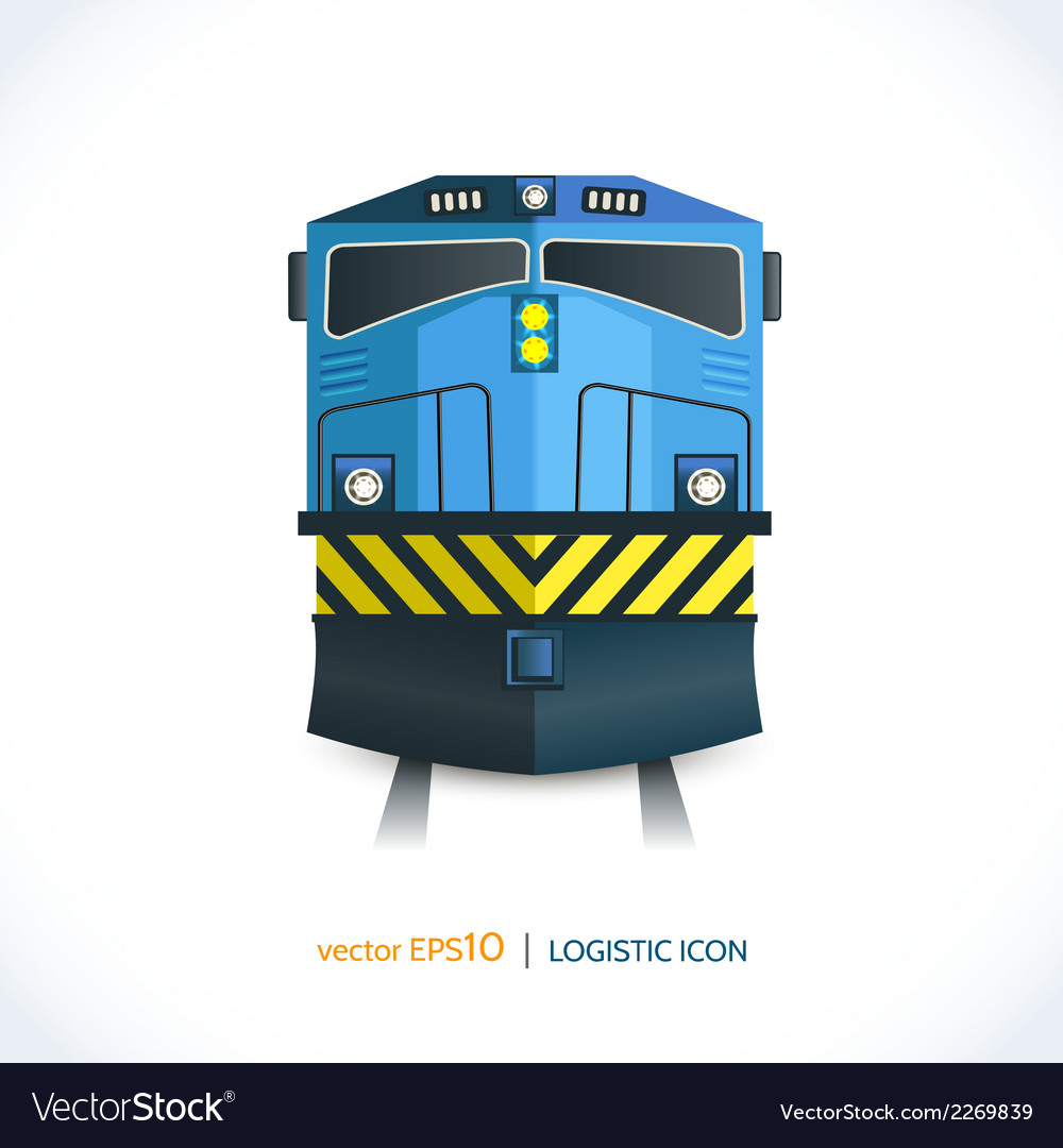 Logistic icon train vector | Price: 1 Credit (USD $1)