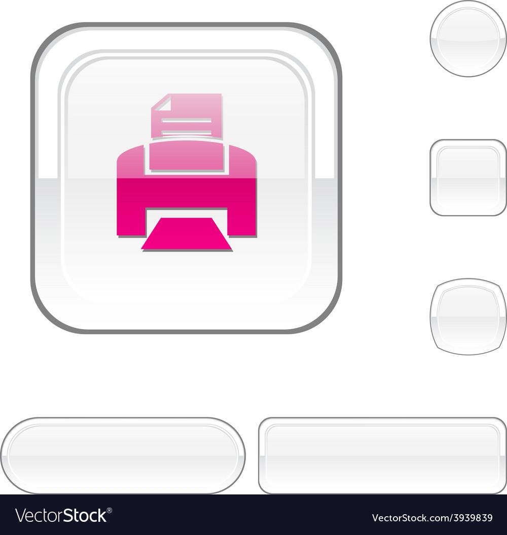Print white button vector | Price: 1 Credit (USD $1)