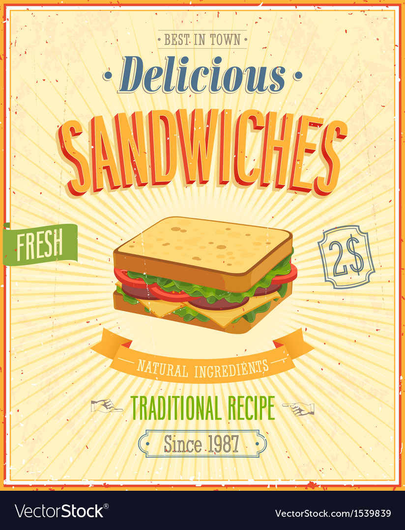 Sandwiches vector | Price: 1 Credit (USD $1)