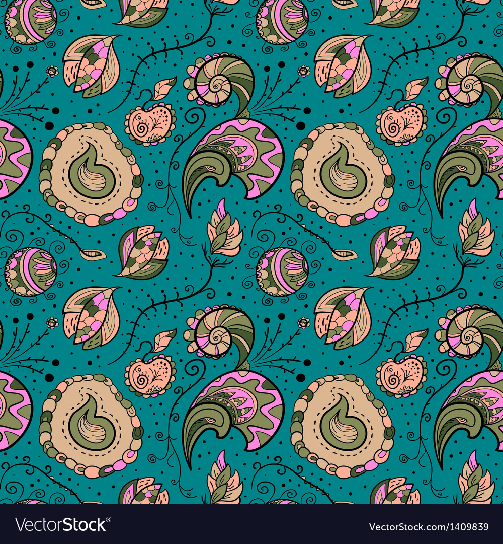 Seamles floral pattern vector | Price: 1 Credit (USD $1)
