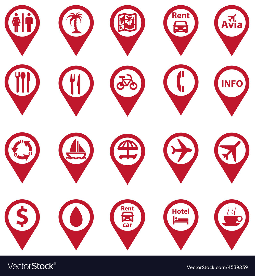 Set of navigation icons vector | Price: 1 Credit (USD $1)
