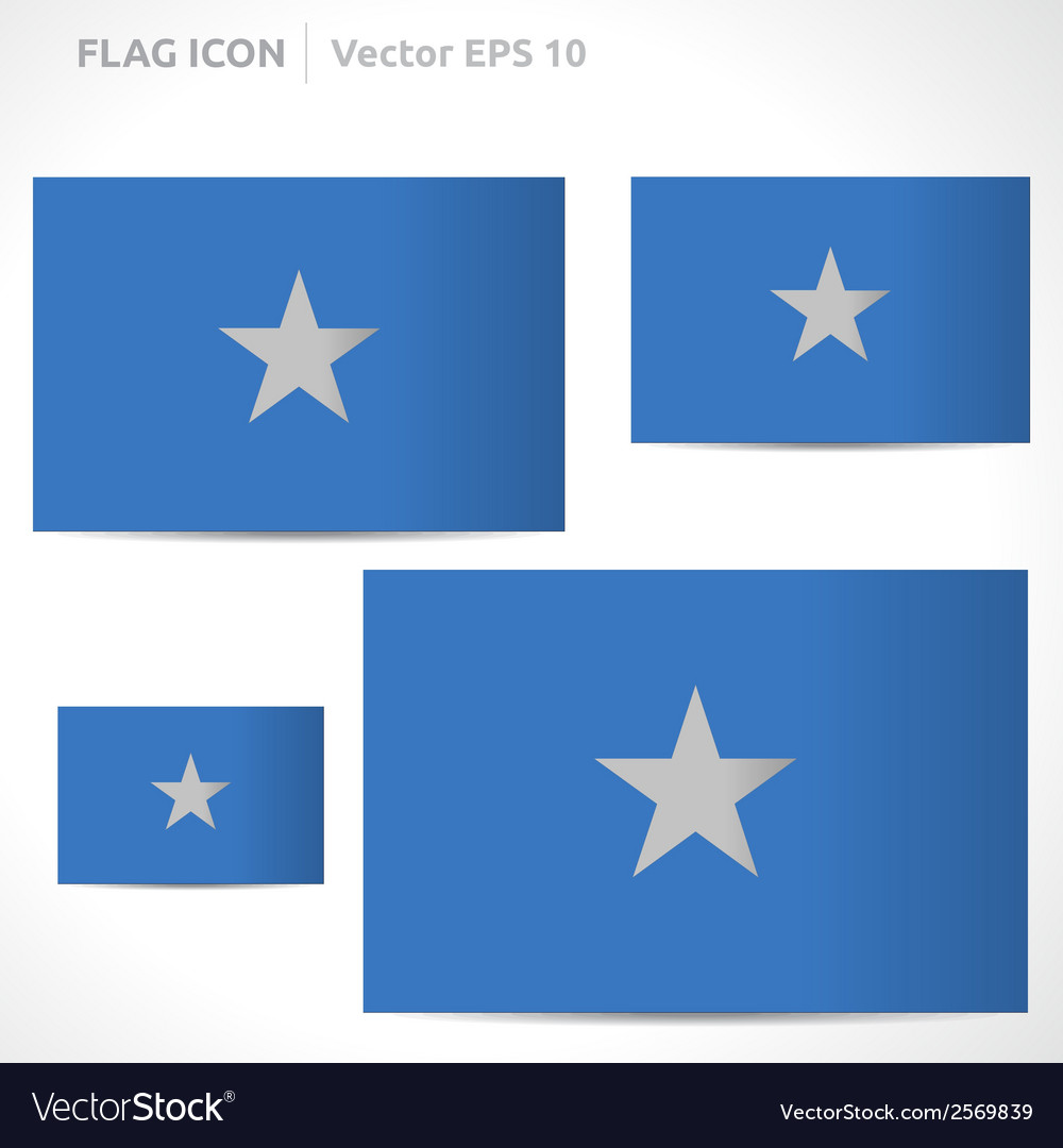 Somalia flag template vector | Price: 1 Credit (USD $1)