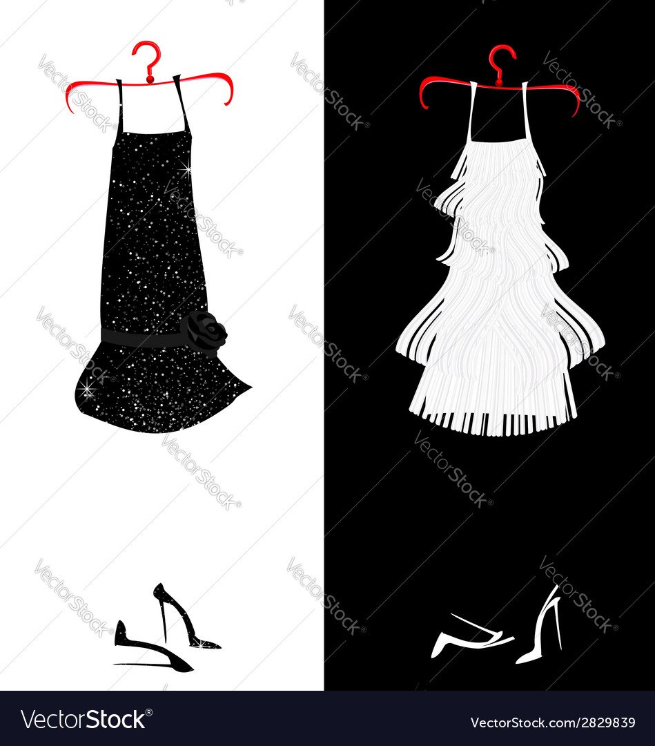 Two dresses vector | Price: 1 Credit (USD $1)