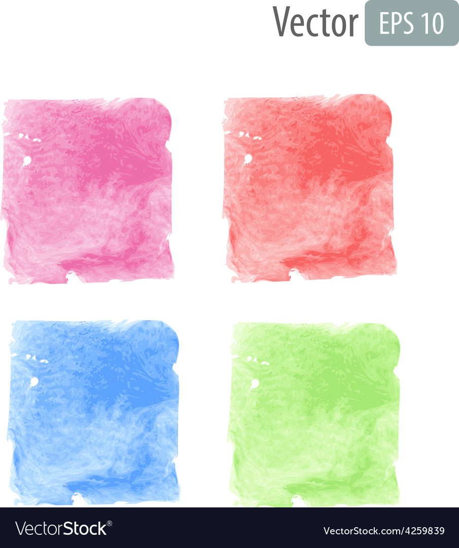 Watercolor stains with space for text vector | Price: 1 Credit (USD $1)