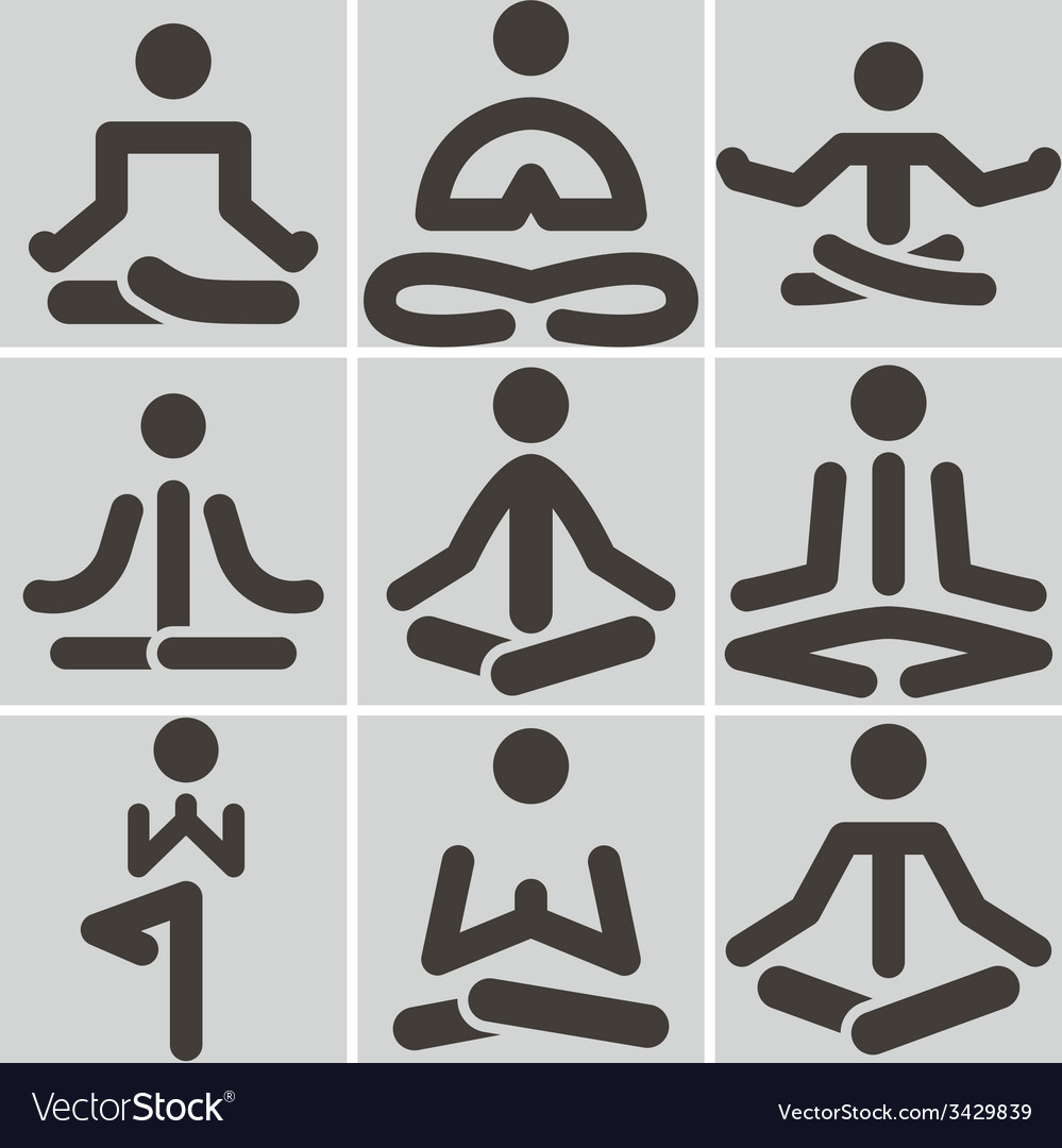 Yoga icons vector | Price: 1 Credit (USD $1)