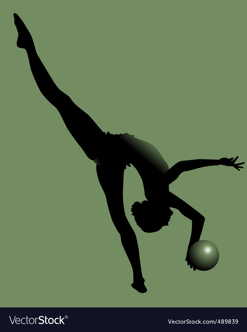 Young gymnast vector | Price: 1 Credit (USD $1)