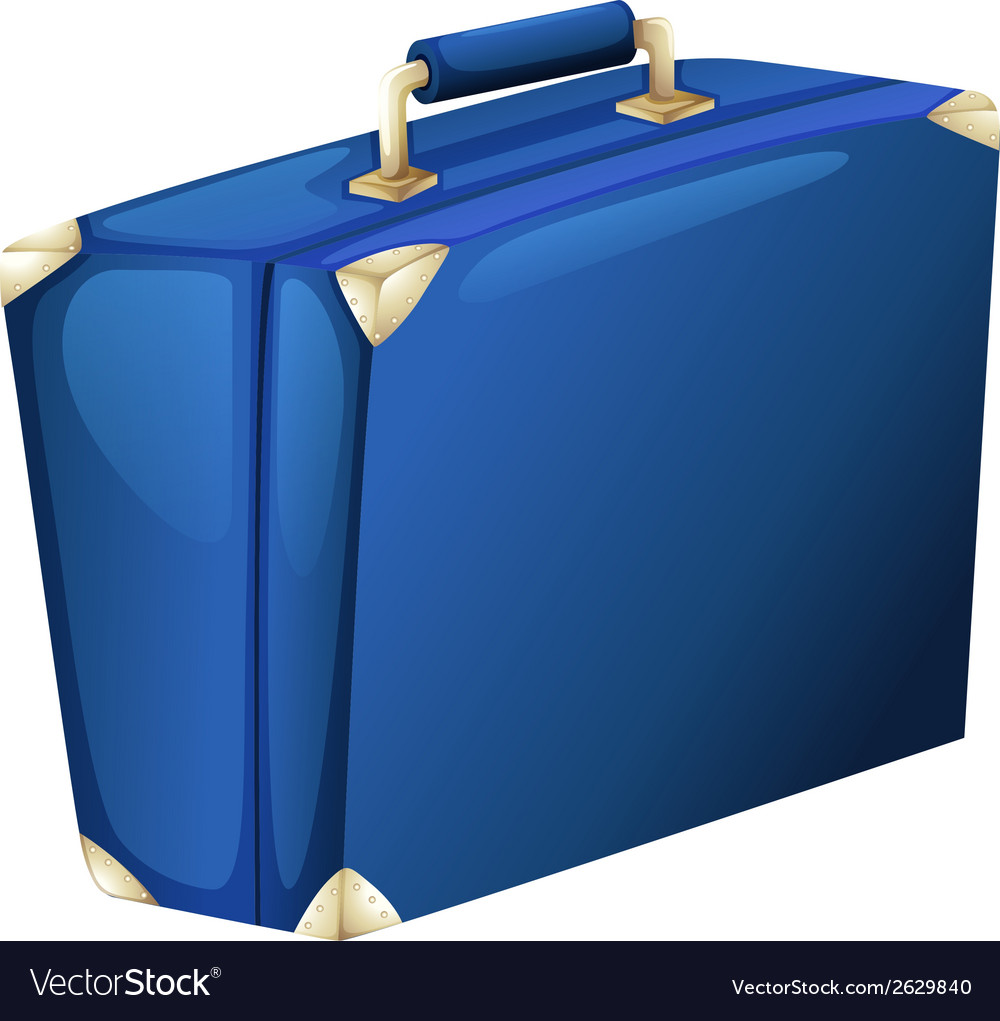 A blue suitcase vector | Price: 1 Credit (USD $1)