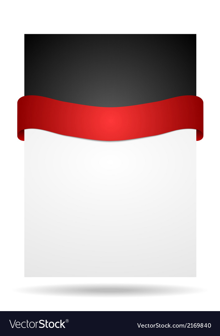 Abstract background with red ribbon vector | Price: 1 Credit (USD $1)