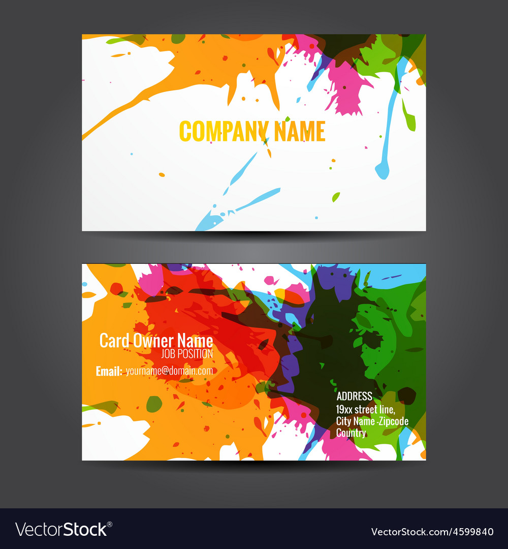 Attractive business card template vector | Price: 1 Credit (USD $1)