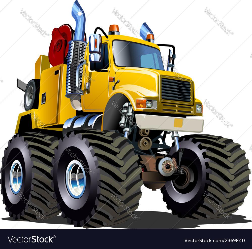 Cartoon monster tow truck vector | Price: 3 Credit (USD $3)