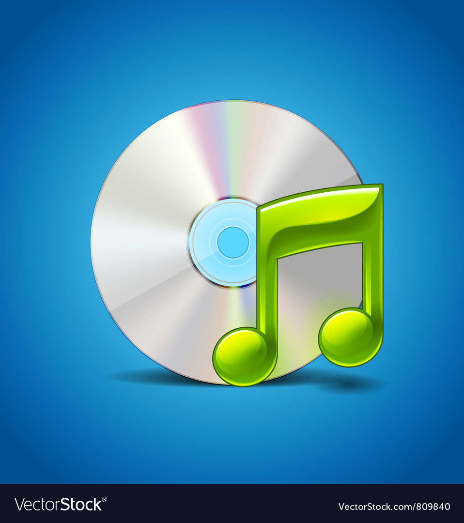 Cd and note vector | Price: 3 Credit (USD $3)