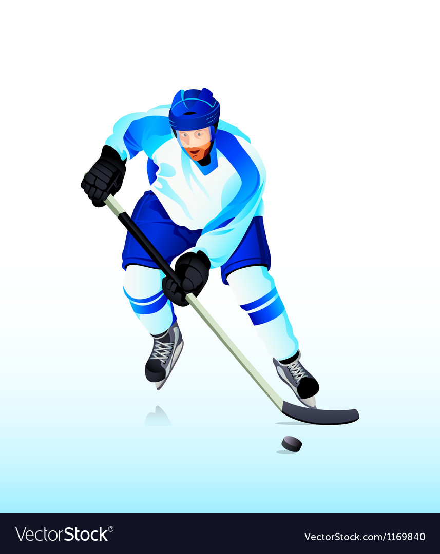 Ice-hockey player vector | Price: 3 Credit (USD $3)