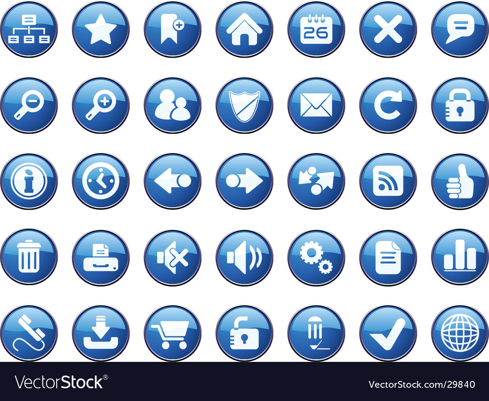 Internet icon set vector | Price: 1 Credit (USD $1)