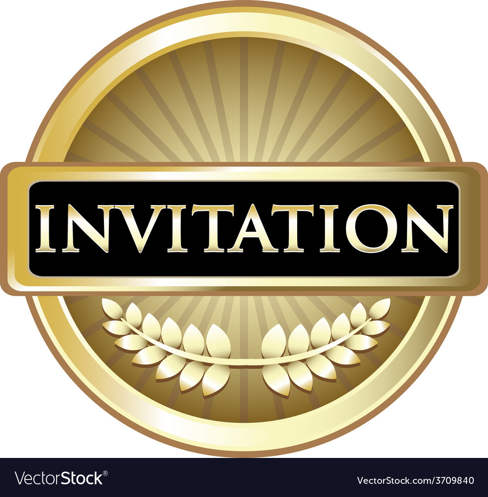 Invitation gold label vector | Price: 1 Credit (USD $1)
