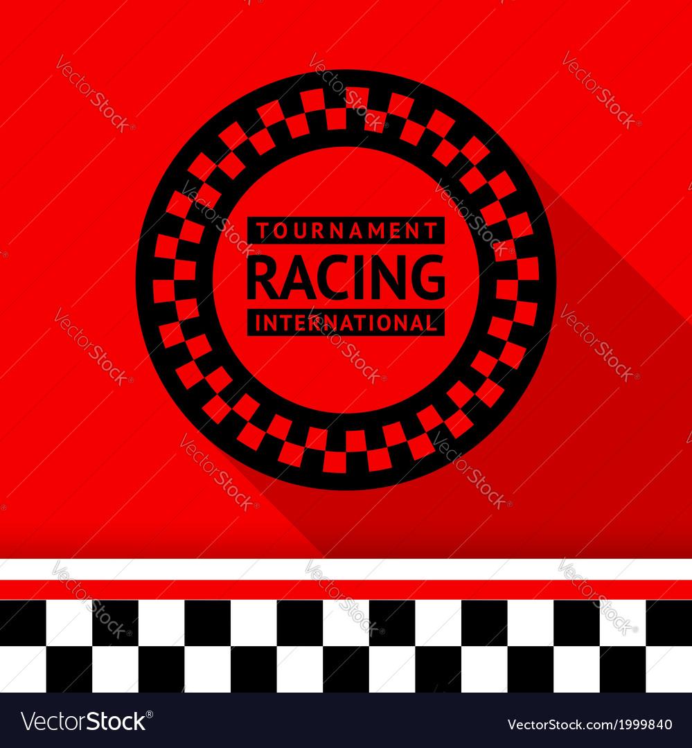 Racing stamp-03 vector | Price: 1 Credit (USD $1)