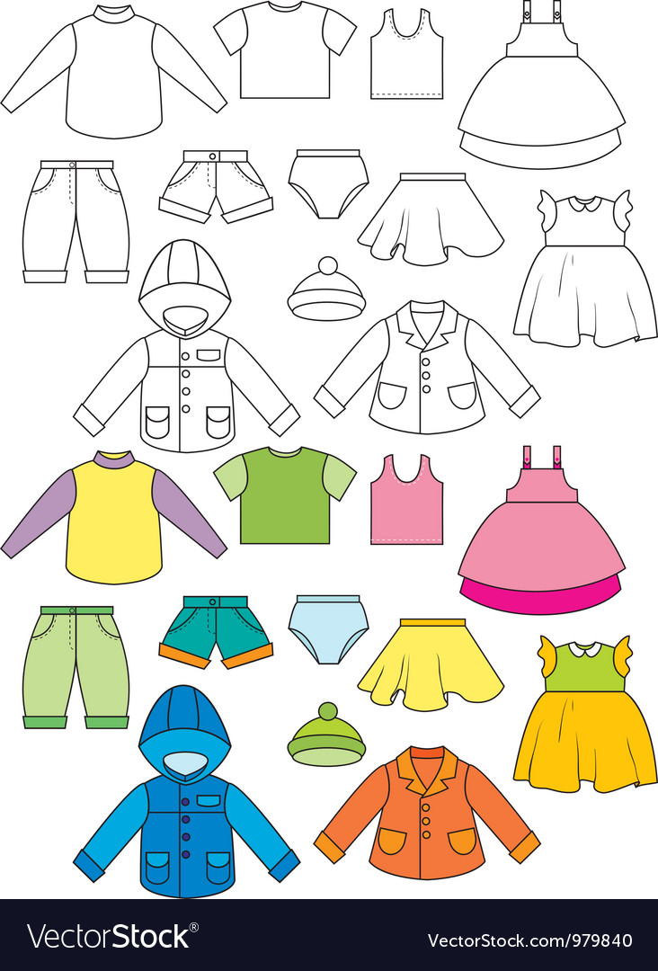 Set of clothing vector | Price: 1 Credit (USD $1)