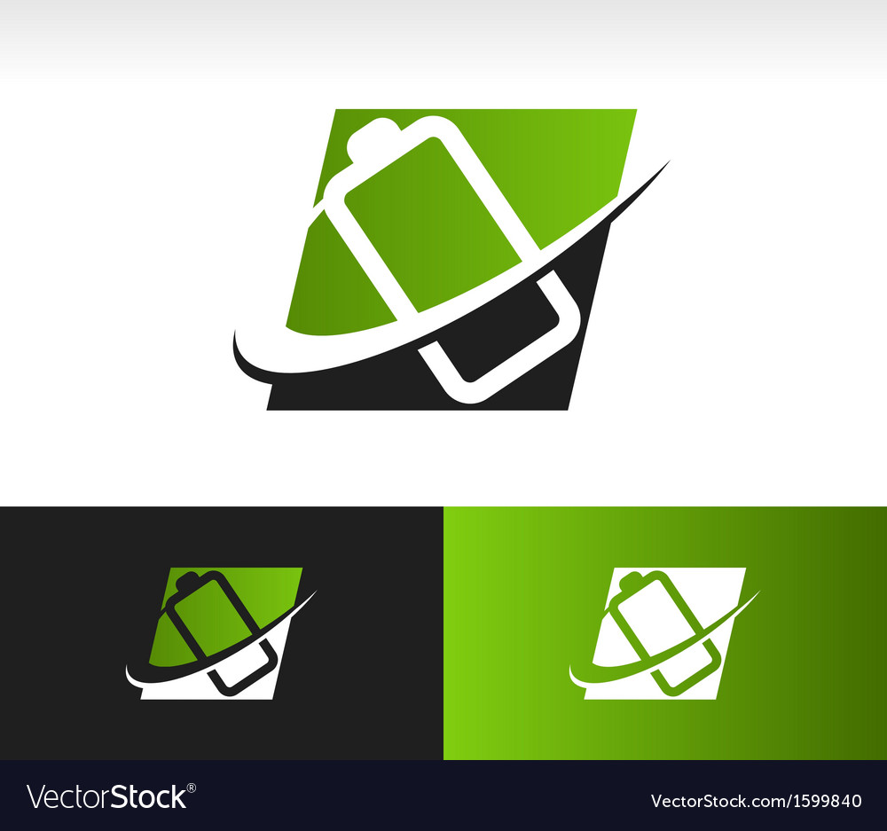 Swoosh battery logo icon vector | Price: 1 Credit (USD $1)