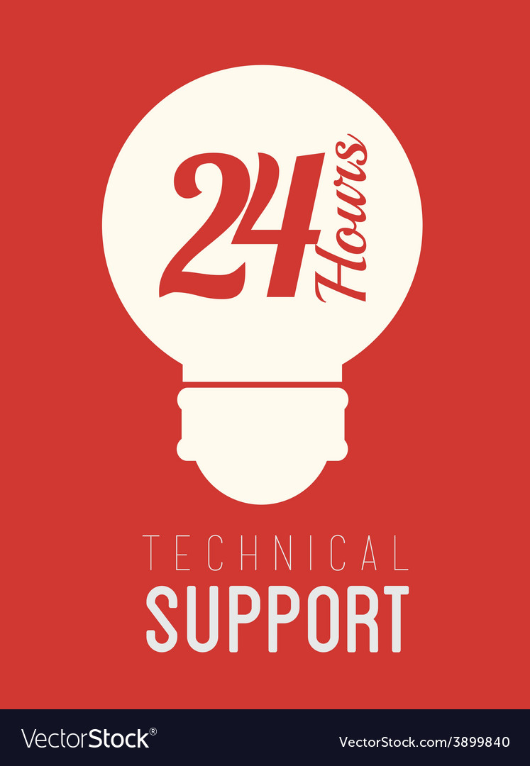 Technical support design vector | Price: 1 Credit (USD $1)