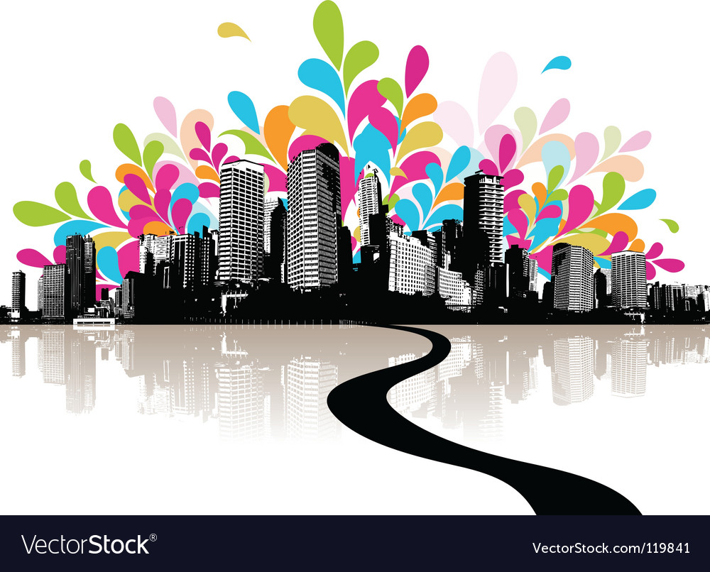 Abstract city vector | Price: 1 Credit (USD $1)