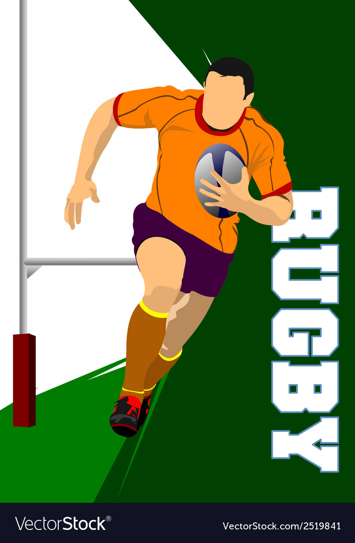 Al 0343 rugby 02 vector | Price: 1 Credit (USD $1)