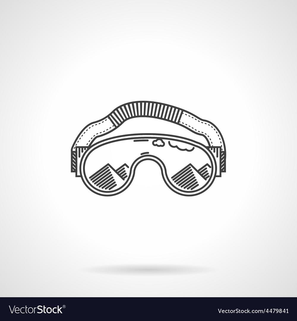 Black line ski glasses vector | Price: 1 Credit (USD $1)