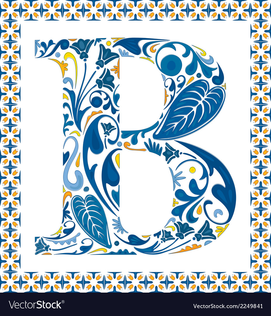 Blue letter b vector | Price: 1 Credit (USD $1)