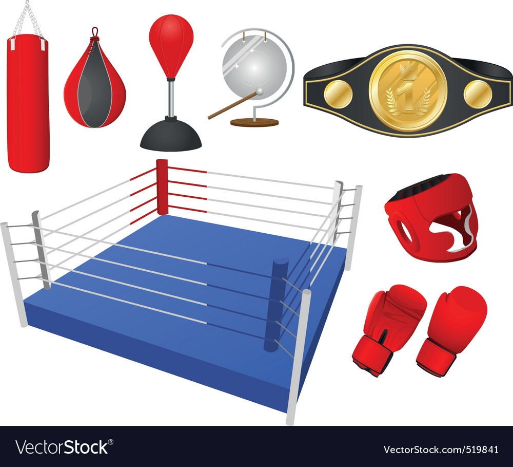 Boxing objects vector | Price: 1 Credit (USD $1)