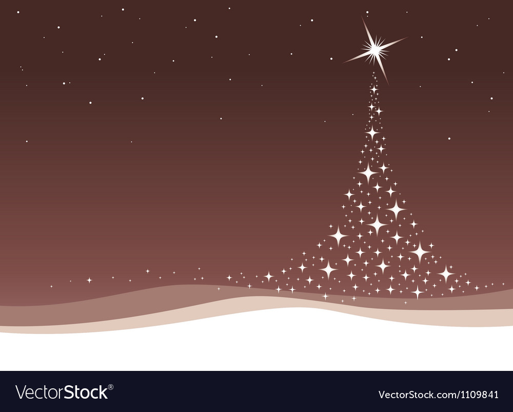 Christmas tree background with stars vector | Price: 1 Credit (USD $1)