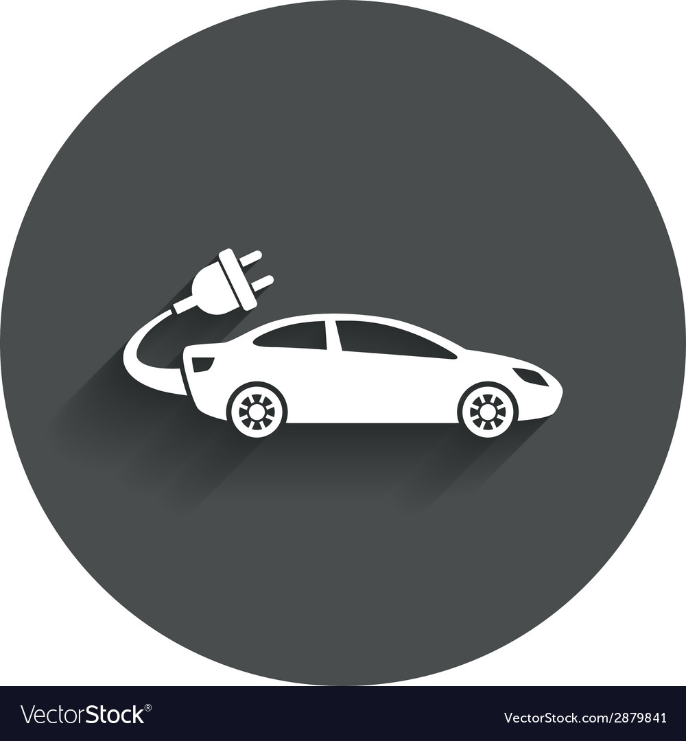 Electric car sign icon sedan saloon symbol vector | Price: 1 Credit (USD $1)