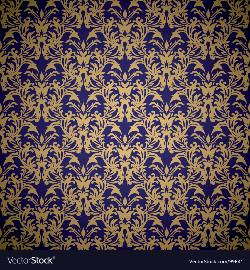 Floral royal wallpaper vector | Price: 1 Credit (USD $1)
