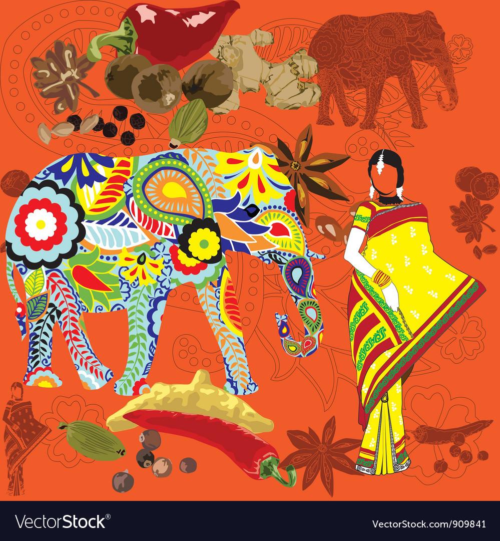 Indian symbols vector   Price: 1 Credit (USD $1)