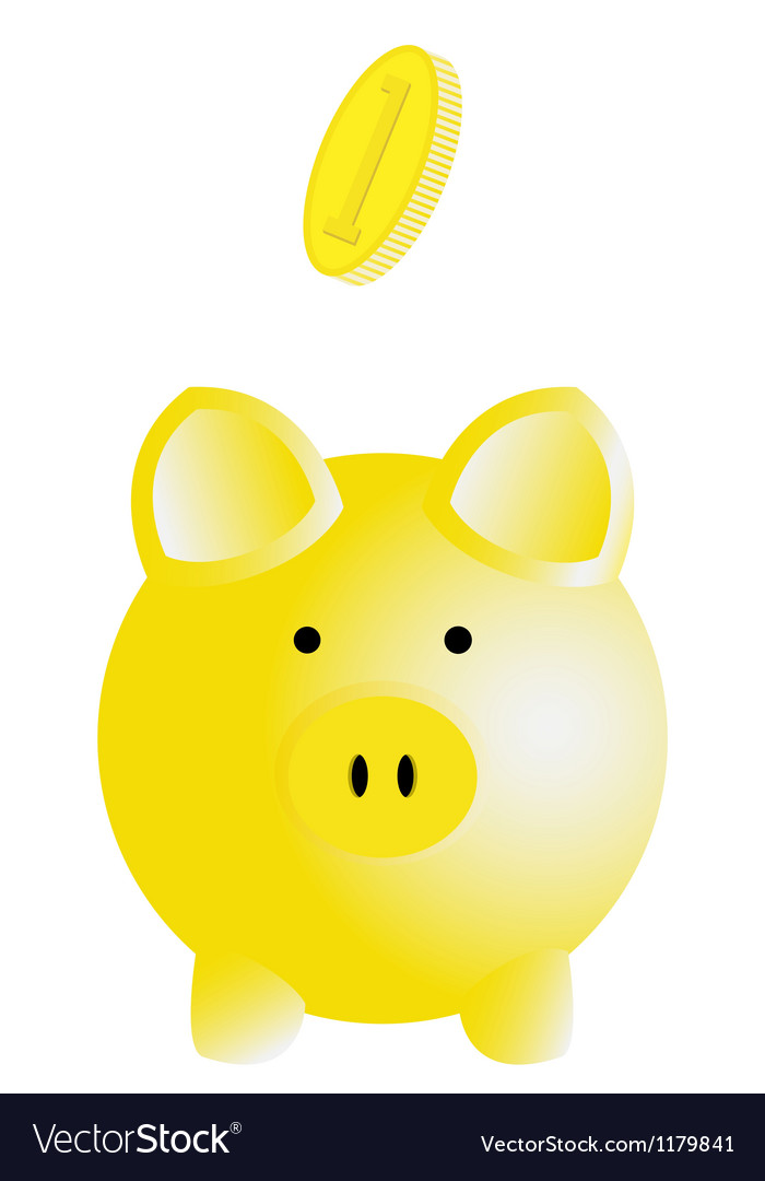 Piggy bank vector | Price: 1 Credit (USD $1)
