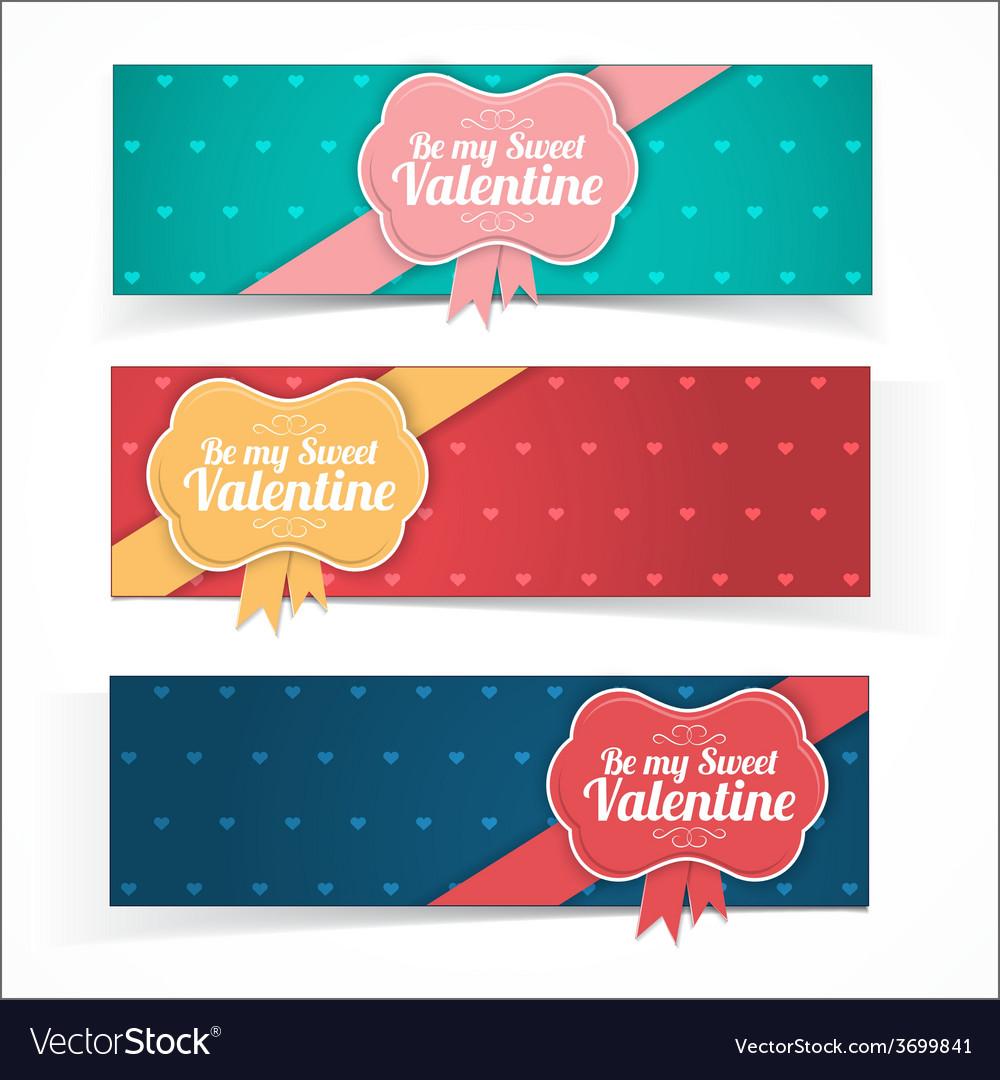 Saint valentine day banners vector | Price: 1 Credit (USD $1)