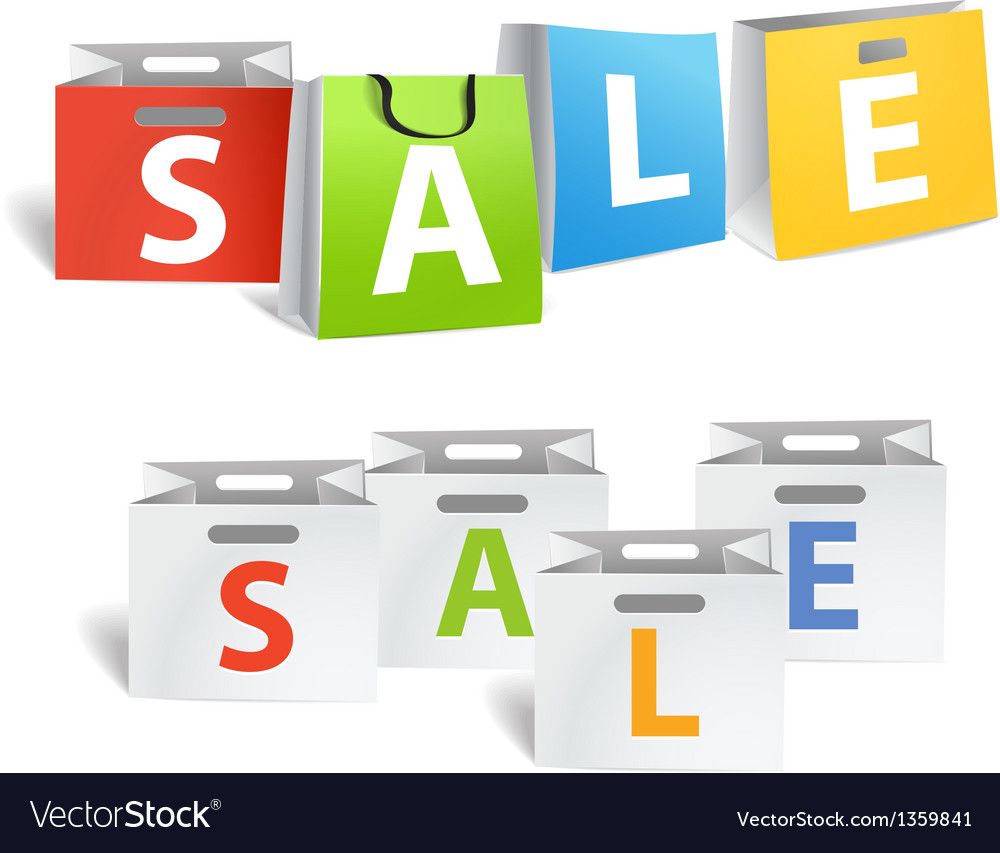 Sale promo banners isolated on white vector | Price: 1 Credit (USD $1)