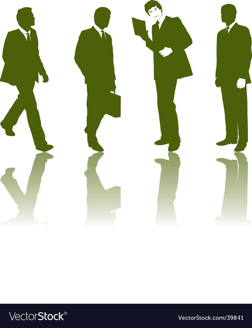 Silhouette business men vector | Price: 1 Credit (USD $1)