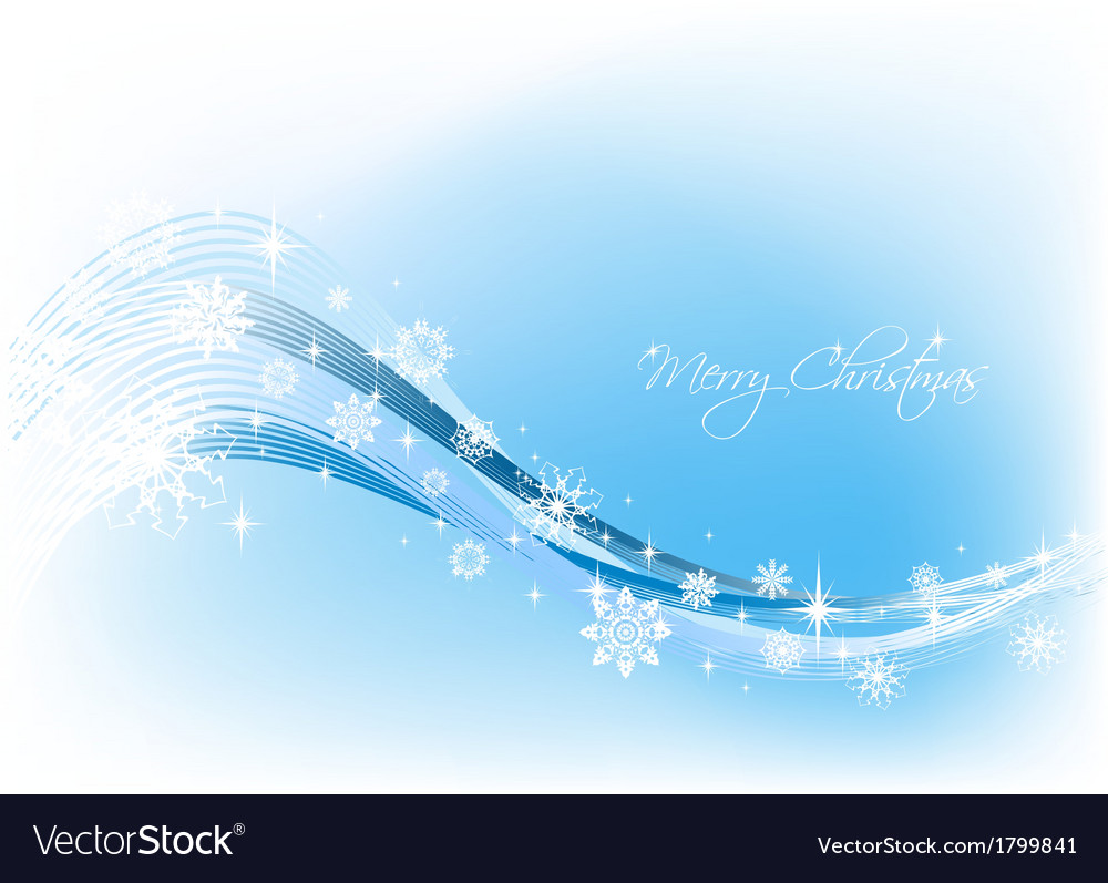 Snowflake blue background vector | Price: 1 Credit (USD $1)