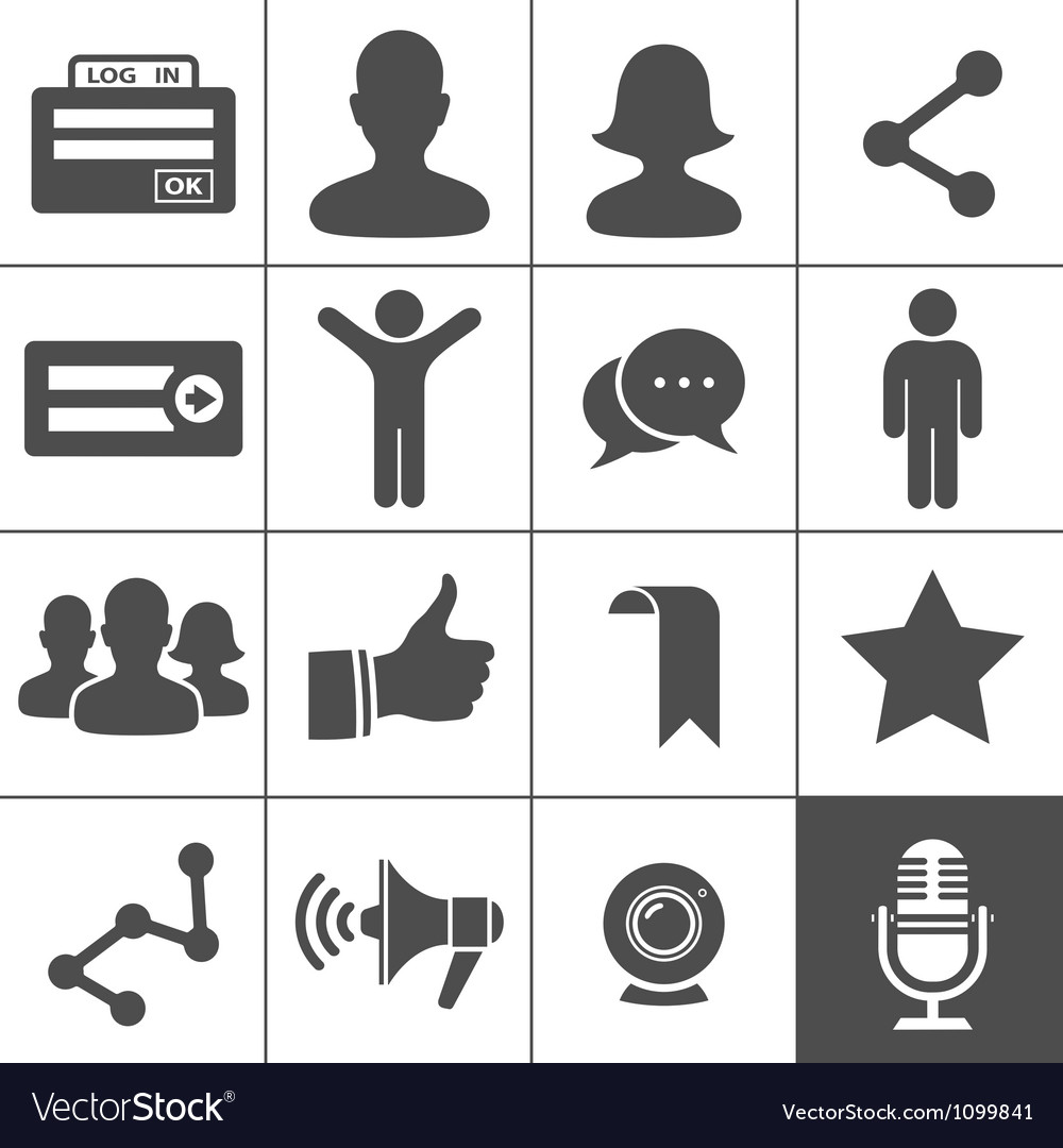 Social networks icons vector | Price: 1 Credit (USD $1)
