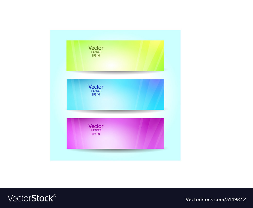 Abstract blurred banner set vector | Price: 1 Credit (USD $1)