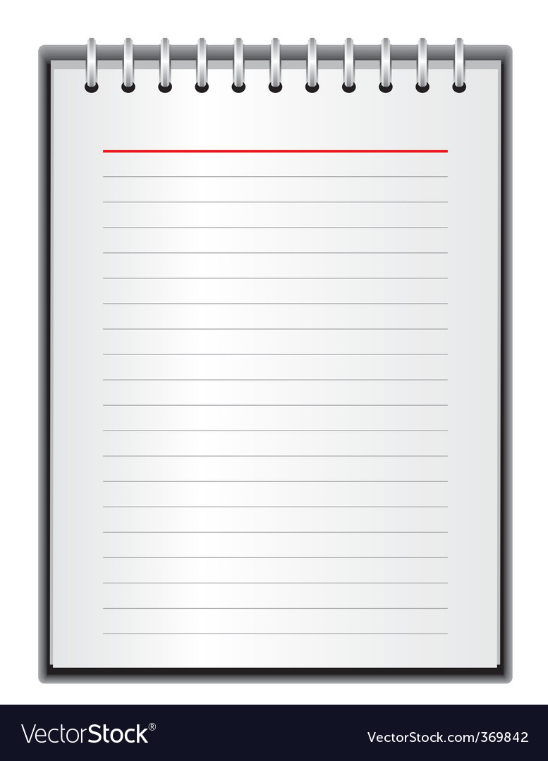 Block of paper for notes vector | Price: 1 Credit (USD $1)