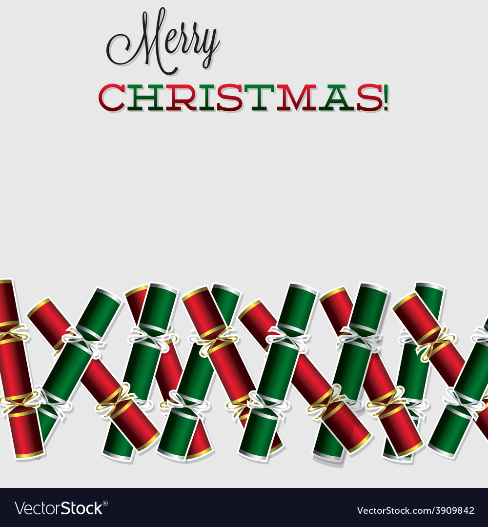 Bright christmas cracker card in format vector | Price: 1 Credit (USD $1)