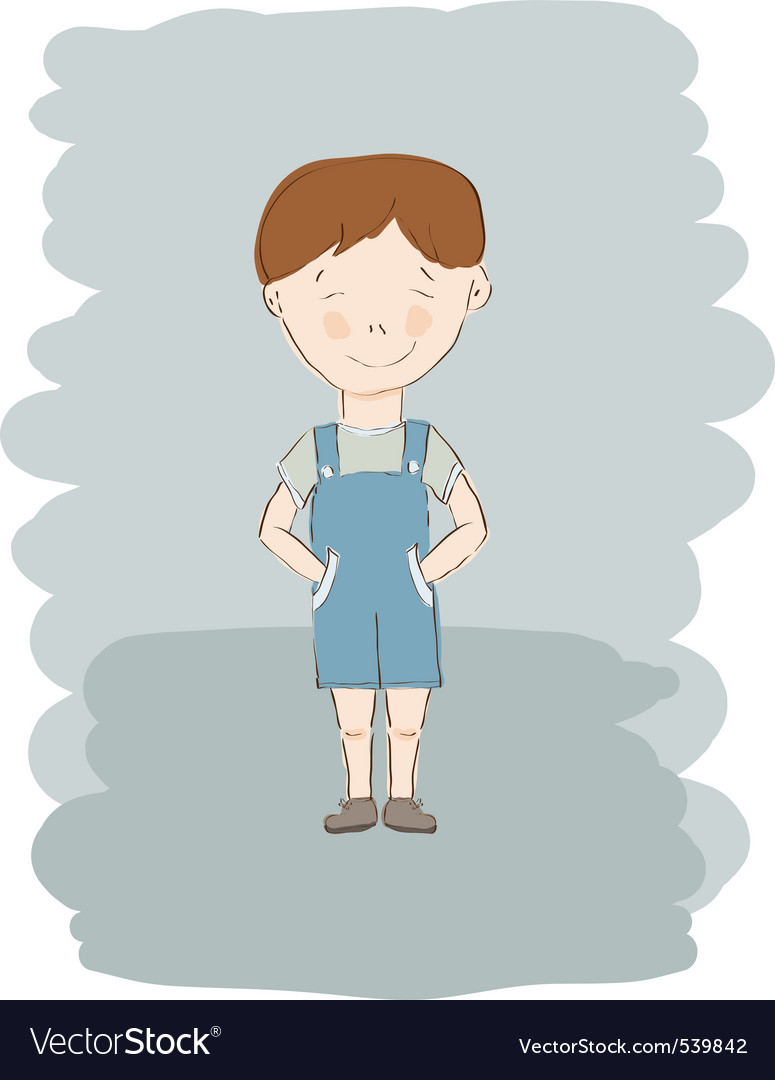 Child boy sketch vector | Price: 1 Credit (USD $1)