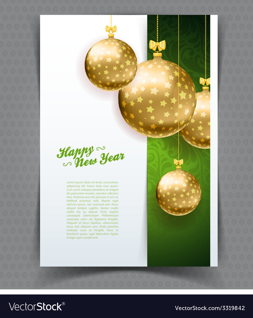 Christmas balls template background vector   Price: 3 Credit (USD $3)