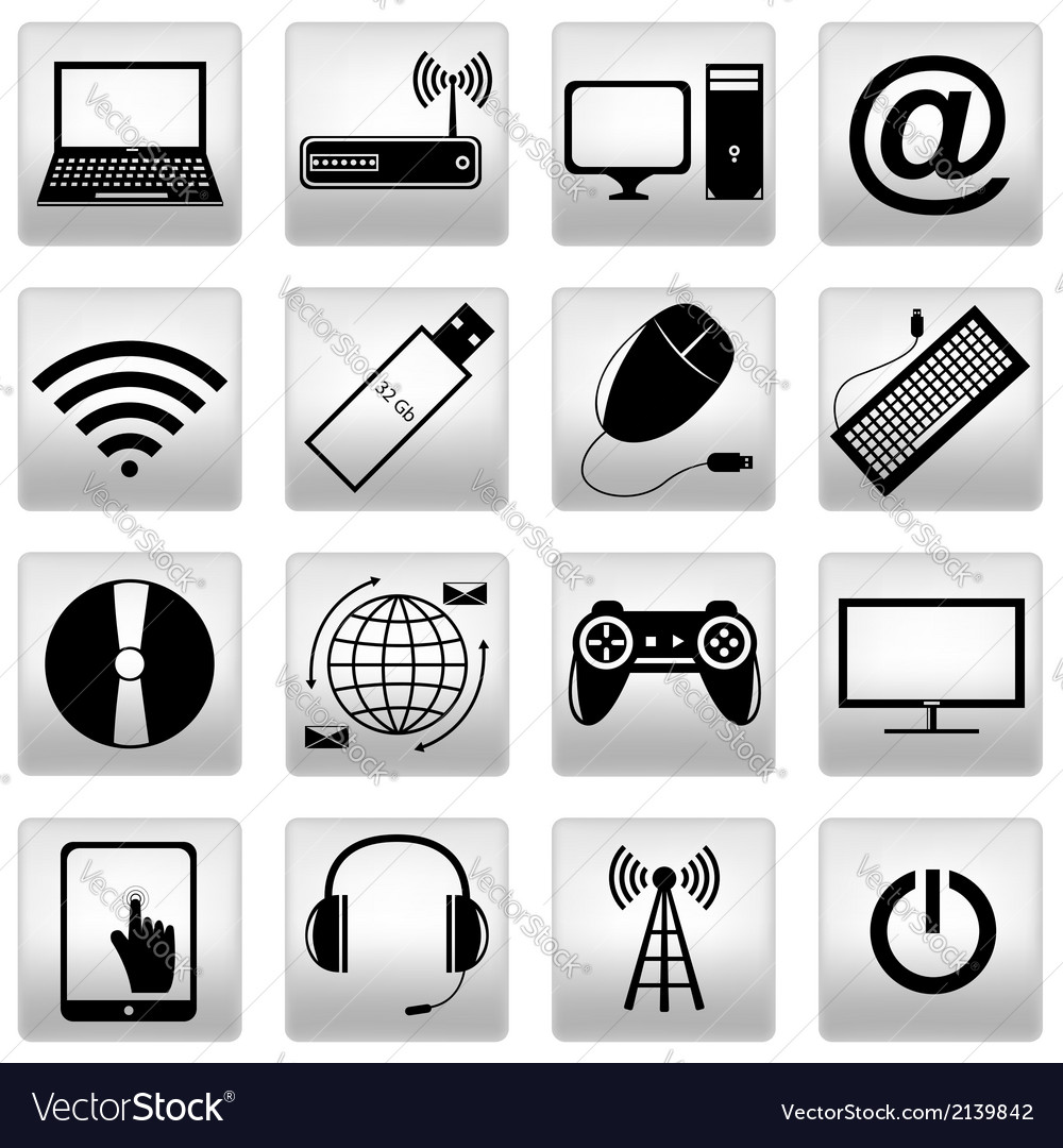 Computer icons set vector   Price: 1 Credit (USD $1)