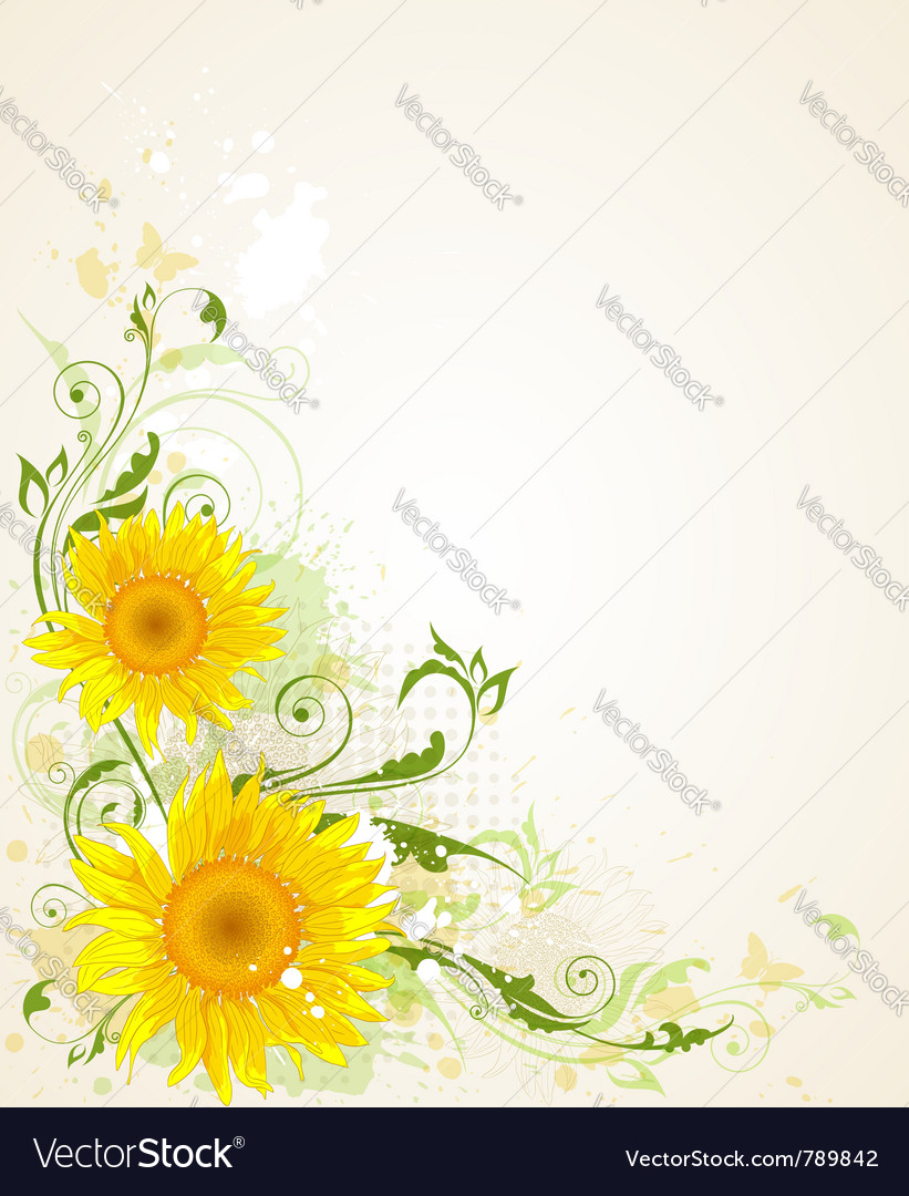 Decorative floral grunge vector | Price: 3 Credit (USD $3)